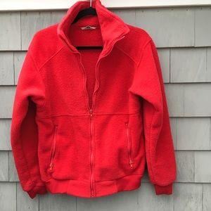 REI Vintage Polar Vest Plush Zip Up Jacket